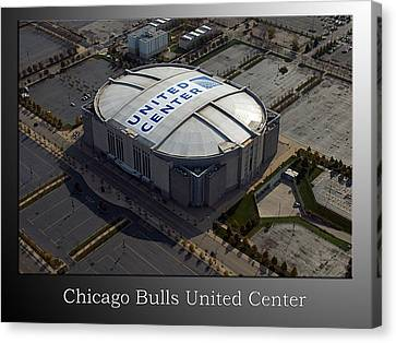 Bulls Canvas Print - Chicago Bulls United Center by Thomas Woolworth