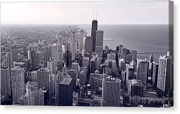 Chicago Bw Canvas Print by Steve Gadomski
