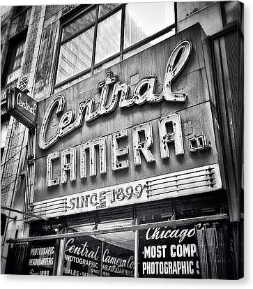 Chicago Central Camera Sign Picture Canvas Print by Paul Velgos