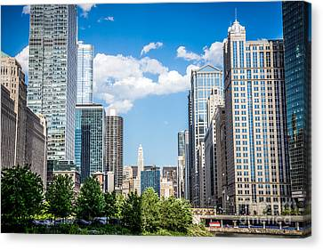 Chicago Cityscape Downtown Buildings Canvas Print by Paul Velgos