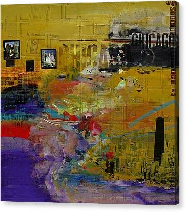 Chicago Collage 2 Canvas Print by Corporate Art Task Force