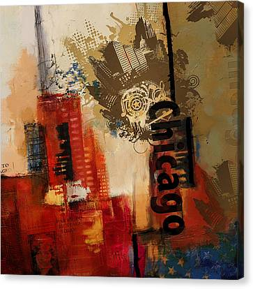 Chicago Collage Alternative Canvas Print by Corporate Art Task Force