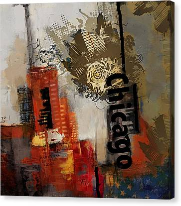 Chicago Collage Canvas Print by Corporate Art Task Force