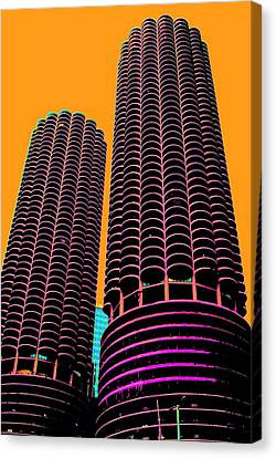 Chicago - Corn Cobs Canvas Print by Seymour Kanowitch