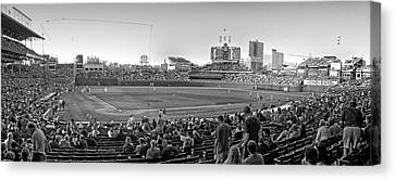 Chicago Cubs 5 Minutes Till Game Time Canvas Print by Thomas Woolworth