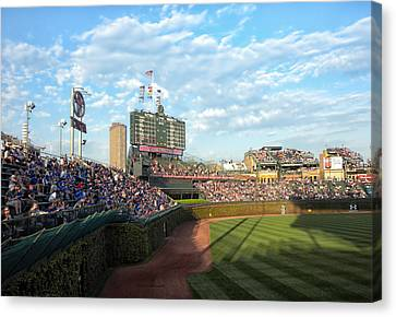 Chicago Cubs Scoreboard 03 Canvas Print by Thomas Woolworth