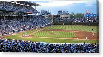 Chicago Cubs Up To Bat Canvas Print by Thomas Woolworth