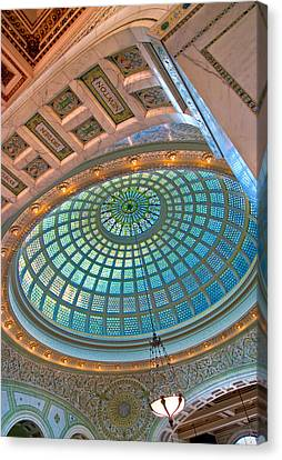Chicago Cultural Center Tiffany Dome Canvas Print by Kevin Eatinger