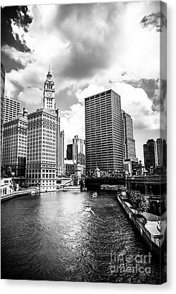 Chicago Downtown At Michigan Avenue Bridge Picture Canvas Print by Paul Velgos