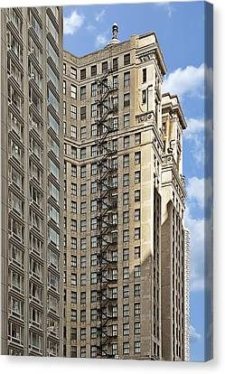 Chicago - Emergency Fire Escape Canvas Print by Christine Till