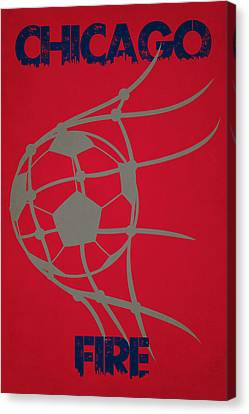 Chicago Fire Goal Canvas Print by Joe Hamilton