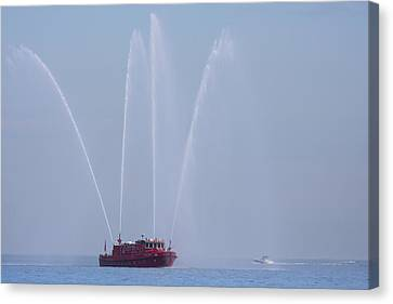 Chicago Fireboat Canvas Print by Adam Romanowicz