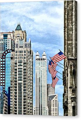 Chicago - Flags Along Michigan Avenue Canvas Print