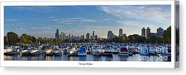 Chicago From Diversey Harbor Canvas Print