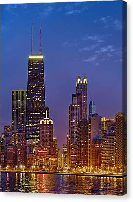 Chicago From North Avenue Beach Canvas Print by Donald Schwartz
