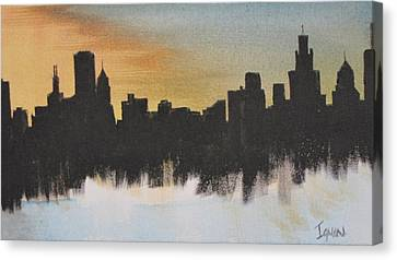 Canvas Print featuring the painting Chicago by Gary Smith