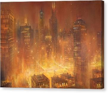Chicago Gold Canvas Print