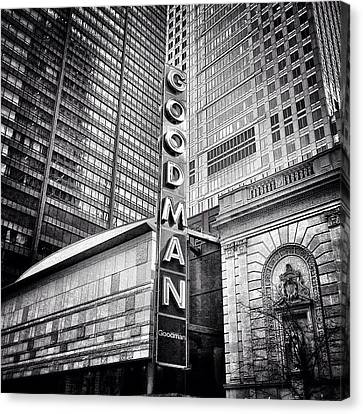 Chicago Goodman Theatre Sign Photo Canvas Print by Paul Velgos