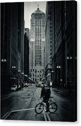 Chicago Gotham - Board Of Trade Building Canvas Print by Tim Fogarty