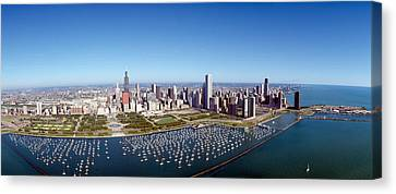 Chicago Harbor, City Skyline, Illinois Canvas Print