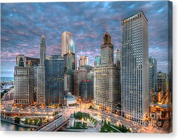 Chicago Hdr Canvas Print by Jeff Lewis