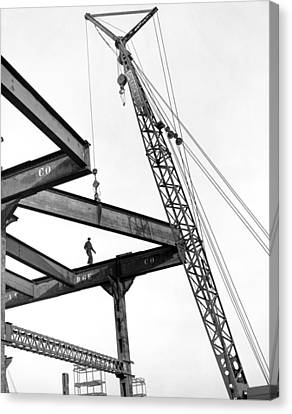 Chicago High Rise Construction Canvas Print