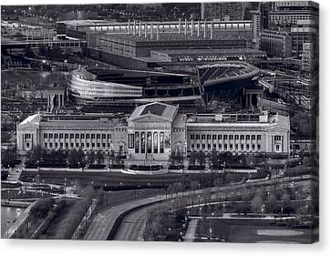 Chicago Icons Bw Canvas Print by Steve Gadomski
