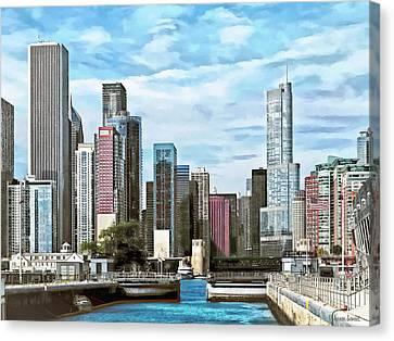 Chicago Il - Chicago Harbor Lock Canvas Print