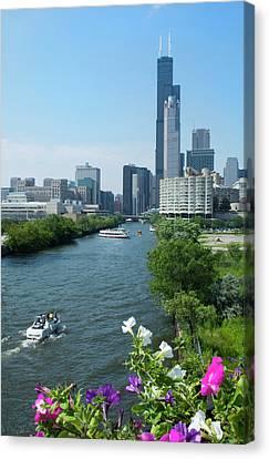 Chicago, Illinois Skyline Canvas Print by Bill Bachmann
