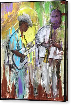 Canvas Print featuring the painting Chicago Jam by Keith Thue