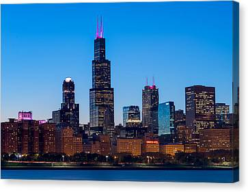 Chicago Lakefront Blues Canvas Print by Steve Gadomski