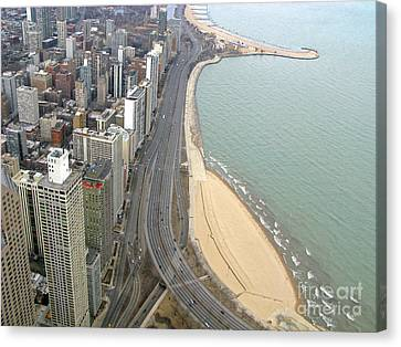 Chicago Lakeshore Canvas Print by Ann Horn