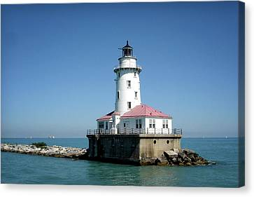 Chicago Lighthouse Canvas Print by Julie Palencia