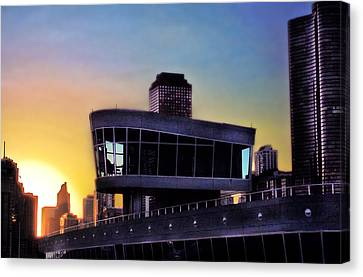 Canvas Print featuring the photograph Chicago Lock Tower by John Hansen
