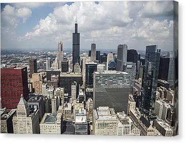 Chicago Loop Aerial Canvas Print