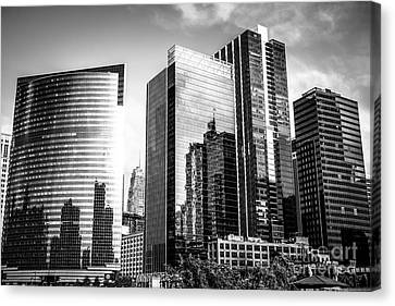 Chicago Loop Black And White Picture Canvas Print by Paul Velgos