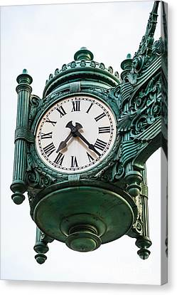 Chicago Macy's Marshall Field's Clock Canvas Print