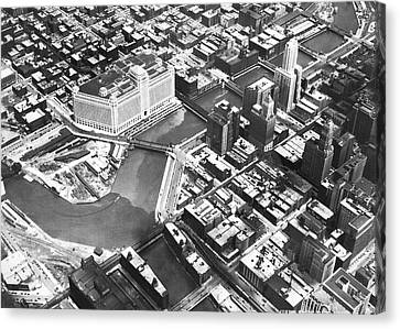 Chicago Merchandise Mart Canvas Print by Underwood Archives