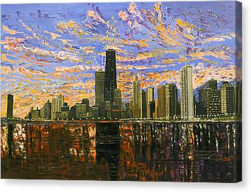 Chicago Skyline Canvas Print - Chicago by Mike Rabe
