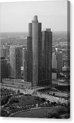 Chicago Modern Skyscraper Black And White Canvas Print by Thomas Woolworth
