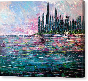Chicago Morning - Sold Canvas Print
