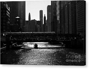 Chicago Morning - Monochrome Canvas Print by Frank J Casella