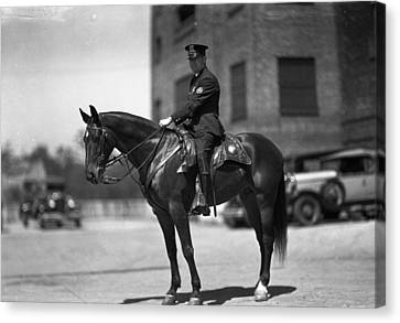 Chicago Mounted Police Canvas Print by Retro Images Archive