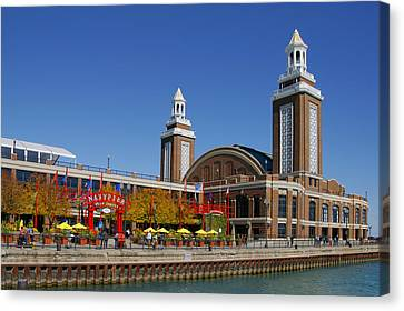 Entertainment Canvas Print - Chicago Navy Pier Headhouse by Christine Till