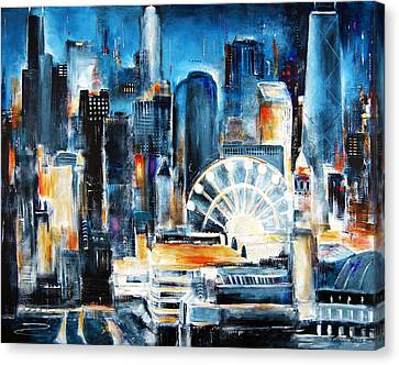 Chicago - Navy Pier Canvas Print by Kathleen Patrick