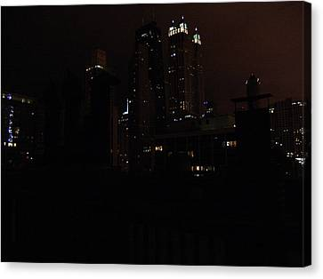 Chicago Night From Roof Canvas Print