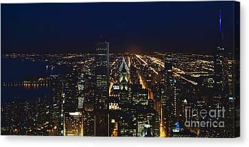 Chicago Night Lights Canvas Print