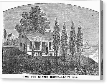 Chicago Old House, 1833 Canvas Print by Granger
