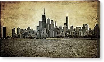 Chicago On Canvas Canvas Print by Milena Ilieva