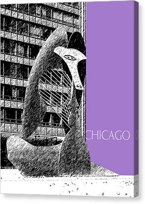 Chicago Pablo Picasso - Violet Canvas Print